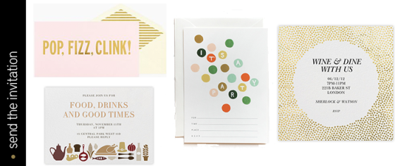 party invitation | dotted design