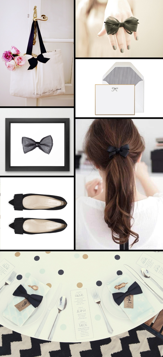 black bows | dotted design