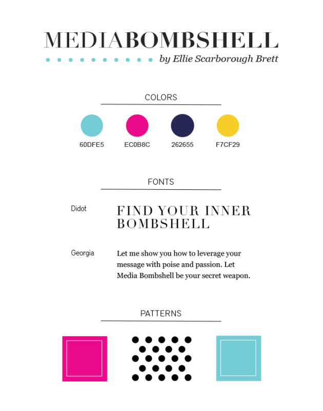 Media Bombshell styleguide | dotted design