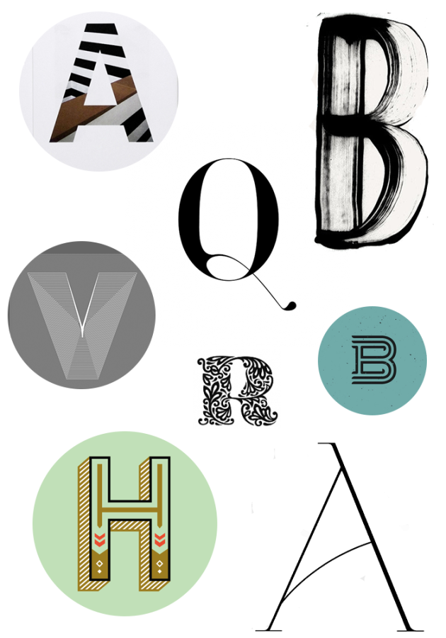 Letter inspiration | dotted design