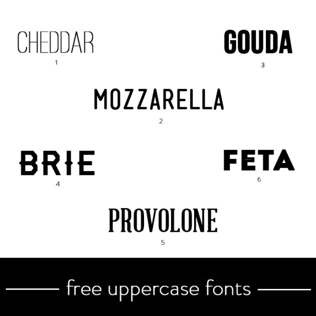 free uppercase fonts on dotted design
