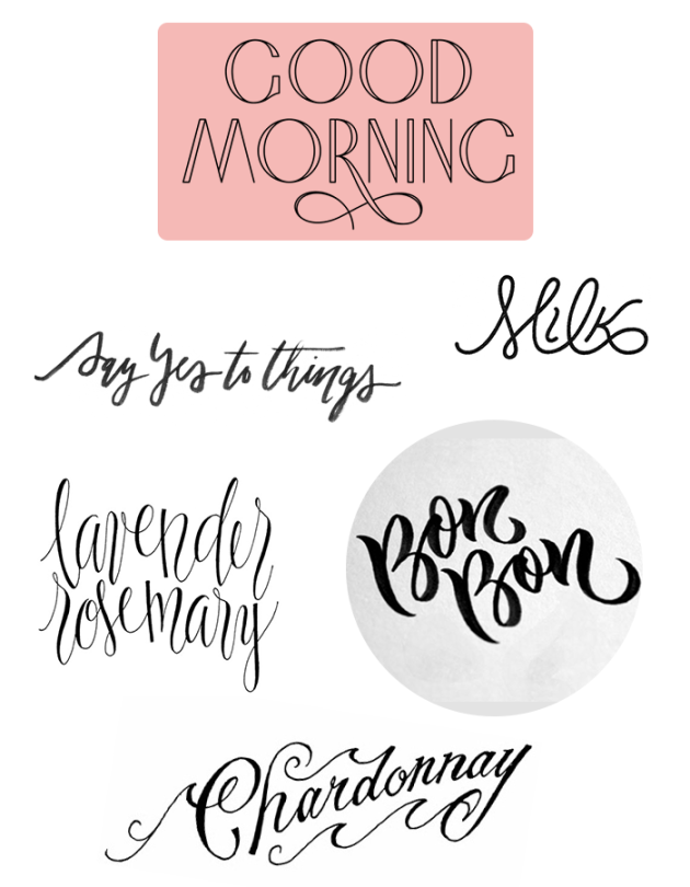 handlettering inspiration | dotted design