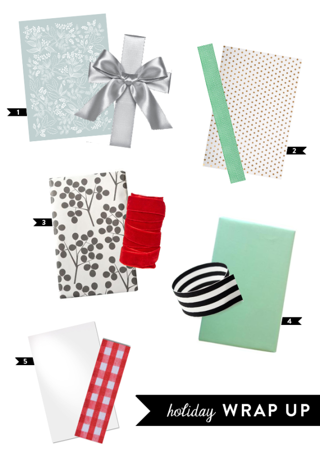 Holiday Wrapping Themes   dotted design