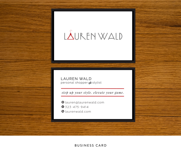 Lauren Wald Business Cards   Dotted Design