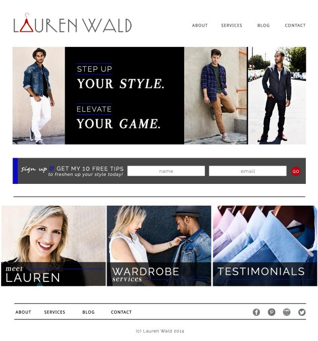 Lauren Wald Website Home   dotted design