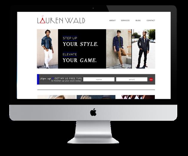 Lauren Wald website   dotted design