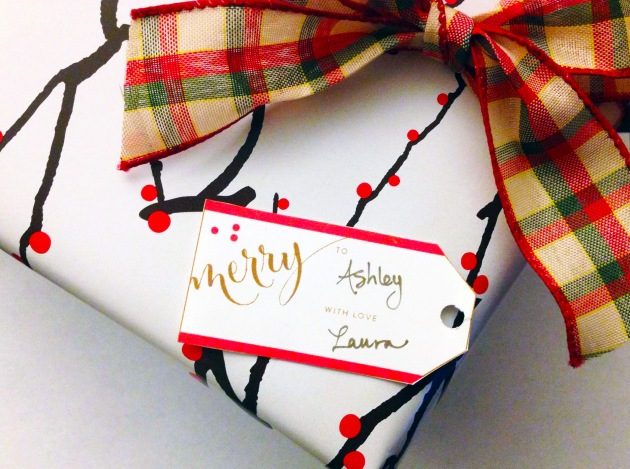 merry gift tag